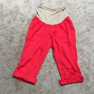 Motherhood maternity red Capri pants size S